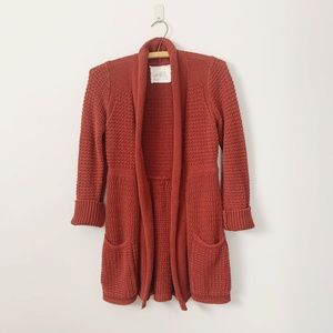 Anthropologie Angel of the North Knit Cardigan M
